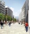 Friargate - one of the new pedestrianised streets