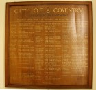Council House Plaque - Education Dept