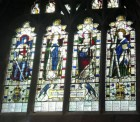 Memorial window at St. John's Church, Fleet Street