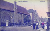 An old postcard showing the Old Grammar School