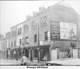 Bomb damage at Primrose Hill Street