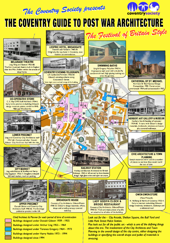 Postwar architecture leaflet map
