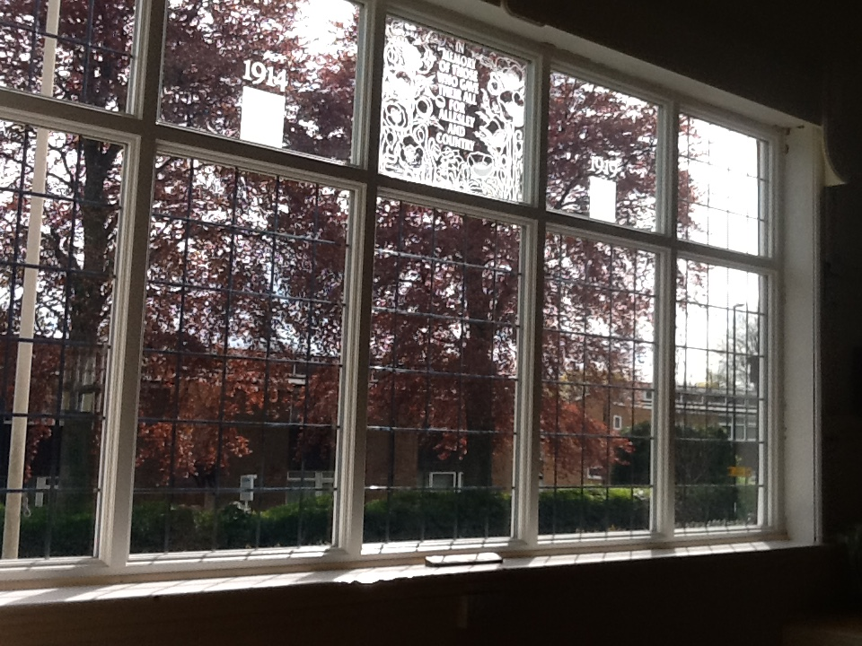 The new memorial window at Allesley Hall