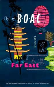 BOAC poster designed by Negus and Sharland