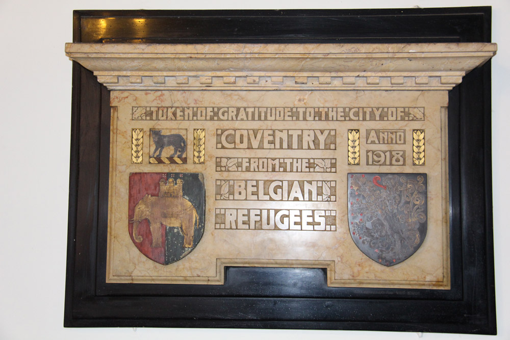 Belgian War Memorial, St Mary's guildhall
