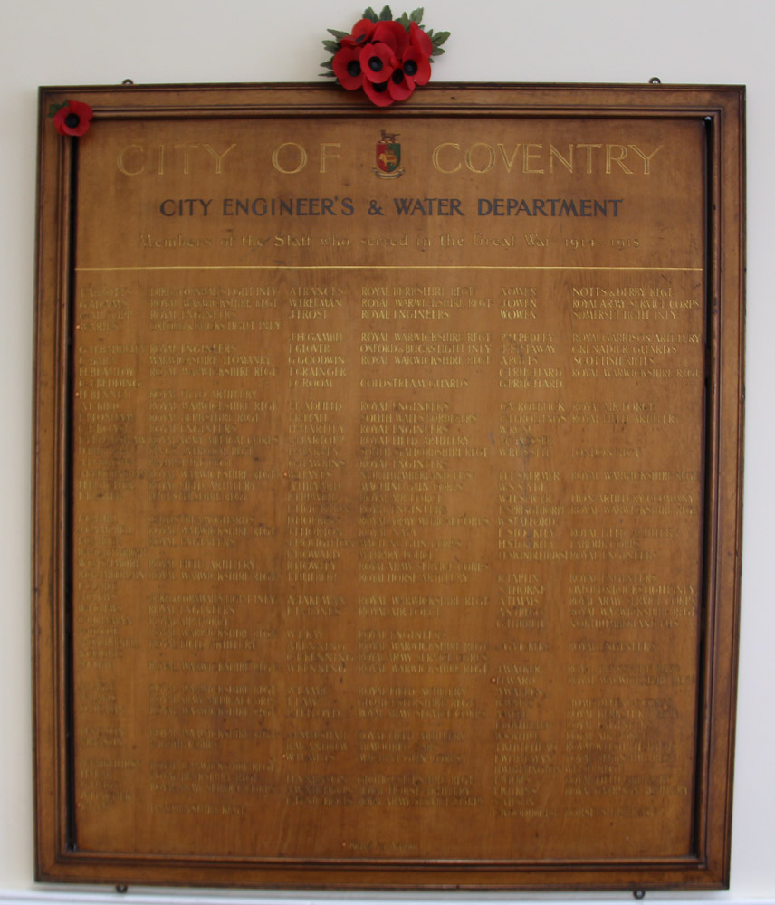 Memorial - Engineers and Water Dept