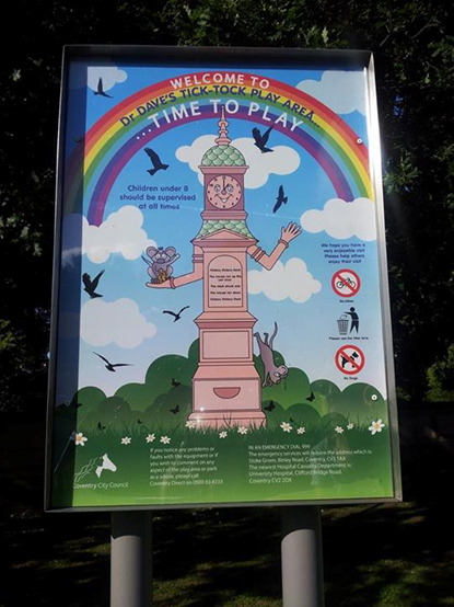 Play area sign