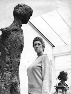 The model and the sculpture