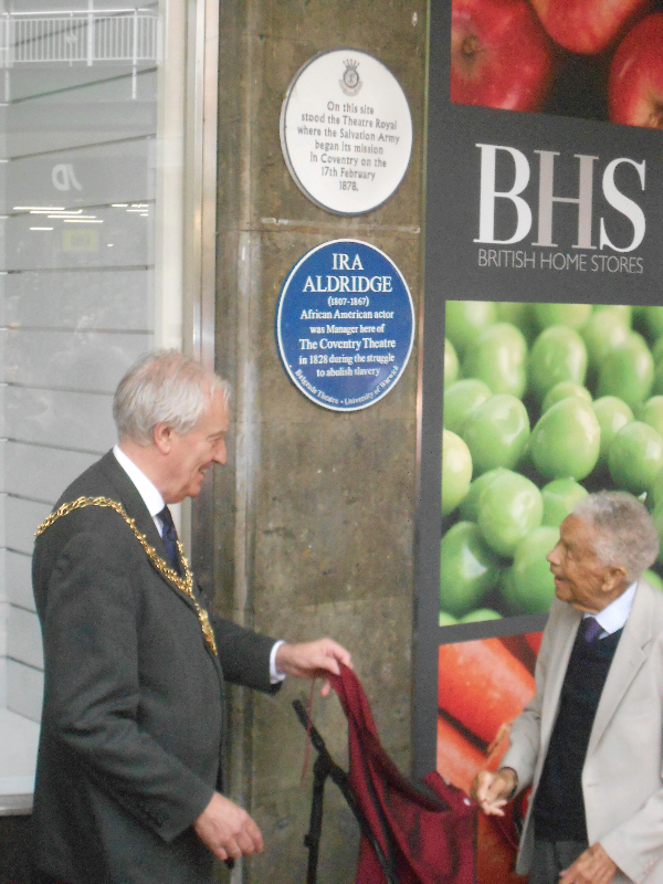 Unveiling of plaque at the Belgrade Theatre