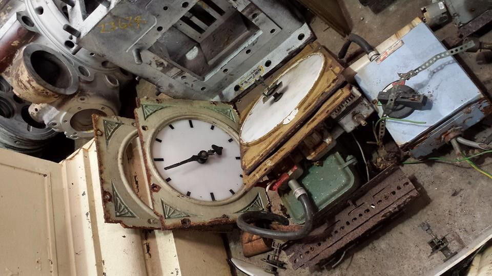 The clock in storage 3