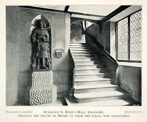 King Henry VI statue - St. Mary's Hall
