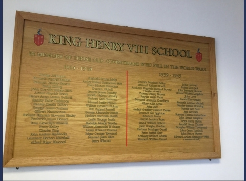 King Henry VIII plaque