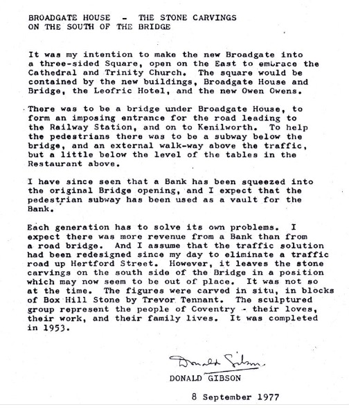 Letter from Gibson