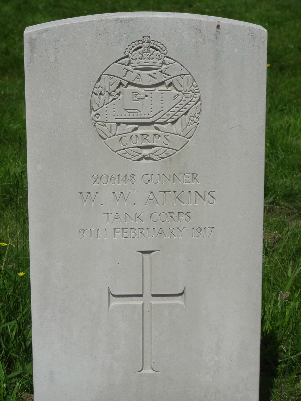 Memorial to Gunner Atkins