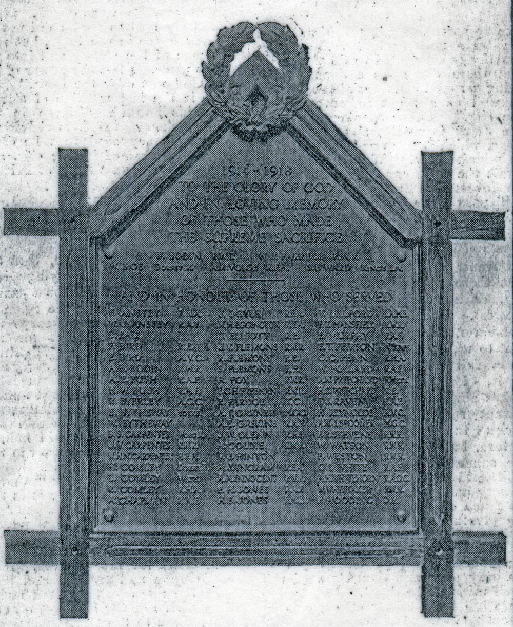 Memorial at St. Michael's Stoke