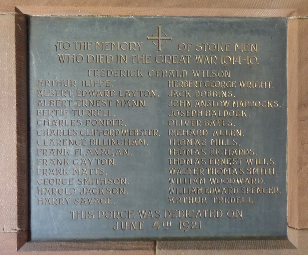 Memorial at St. Michael's Church Stoke