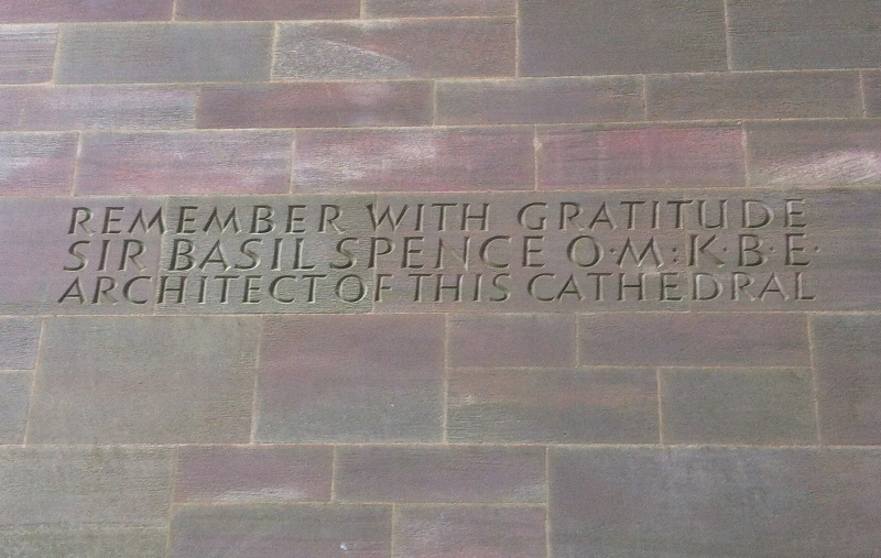 Memorial to Basil Spence, Coventry Cathedral
