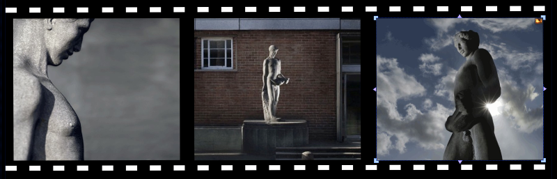 Sculpture by John Poole at Cannock Library