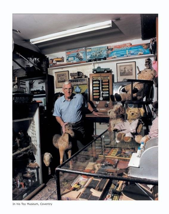 Ron Morgan in his toy museum