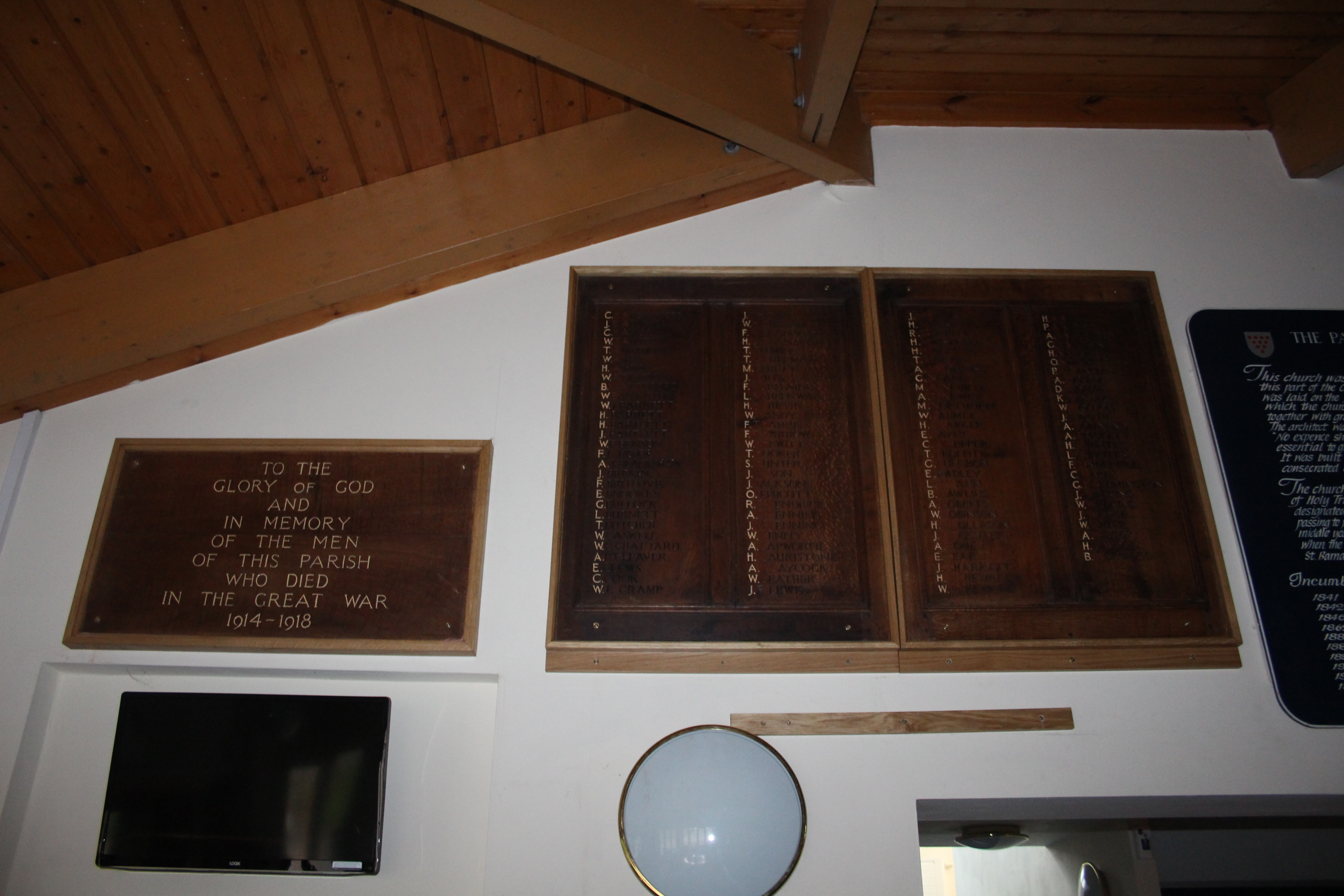 Plaques at St. Peter's Church