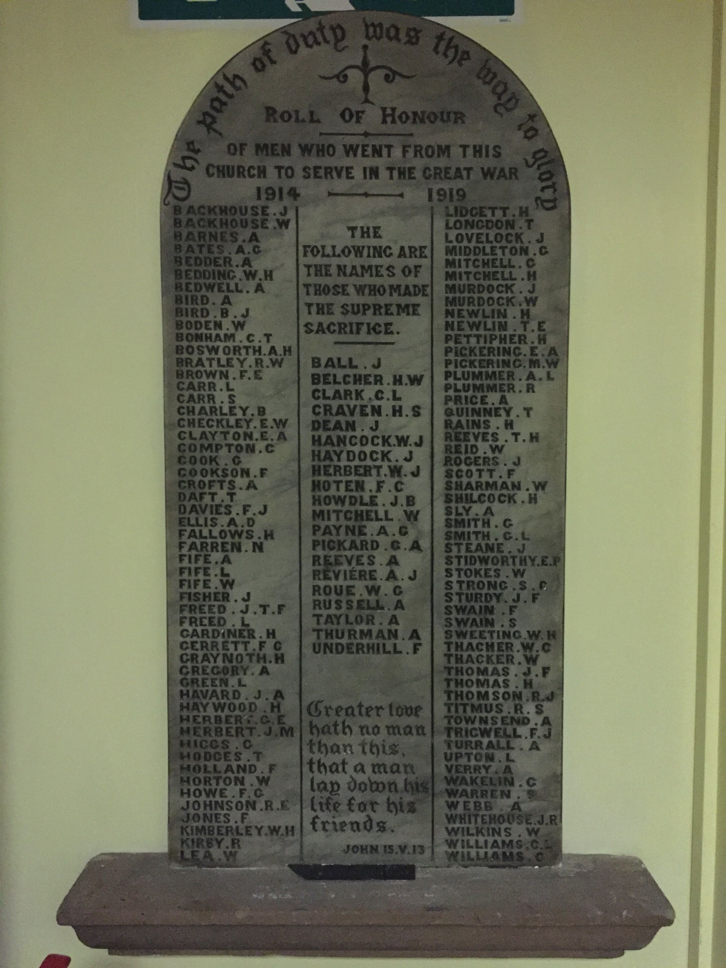 Stoney Stanton Road Methodist Memorial
