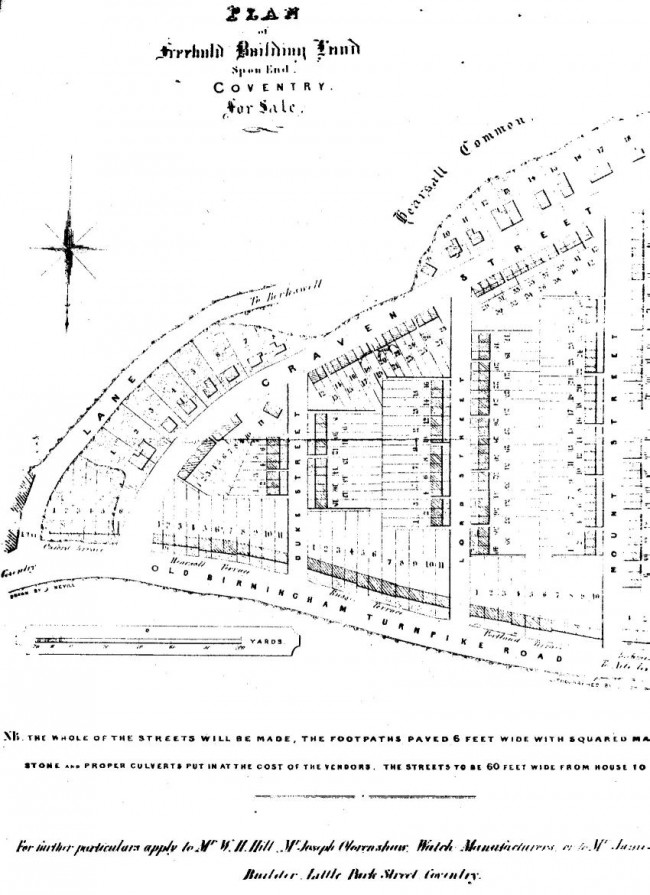 Old map of Chapelfields courtesy of CCC